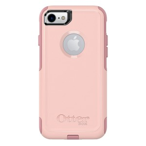 OtterBox COMMUTER SERIES Case for iPhone 8 and iPhone 7 (NOT Plus) - Retail Packaging - BALLET WAY (PINK SALT/BLUSH)