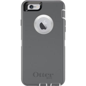 OtterBox DEFENDER iPhone 6/6s Case - Retail Packaging - GLACIER (WHITE/GUNMETAL GREY)