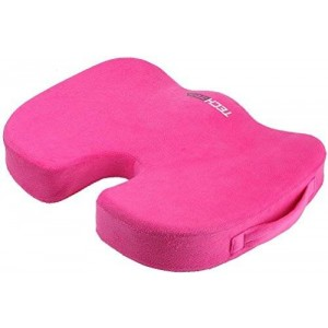 Techege Orthopedic Comfort Foam Grade  A Coccyx Tailbone Backpain Comfortable Cushion (Pink)