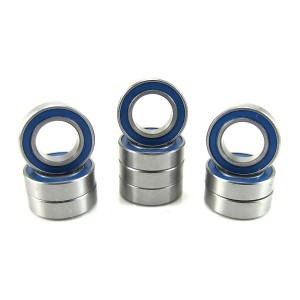8x14x4mm Precision Ball Bearings ABEC 3 Rubber Seals (10) MR148-2RS-BU