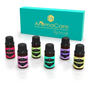 EA AromaCare Aromatherapy Essential Oils Blends Gift Set, Therapeutic Grade , 100% Pure, (Detox, Immunity, Rejuvenate, Sleep Well, Relax and Muscle Relief) Great Essential Oils Set
