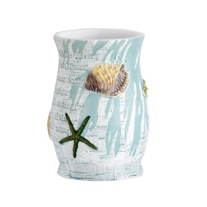 """Popular Home The Atlantic Collection Tumbler, 4.5 by 3.5 by 3.5"""" , Aqua"""