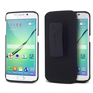 Galaxy S6 Edge Case, Aduro Shell and Holster COMBO Case Super Slim Shell Case w/ Built-In Kickstand + Swivel Belt Clip Holster for Samsung Galaxy S6 Edge