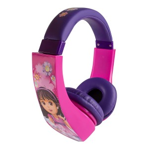 Dora The Explorer HP2-04367-KHL Dora and Friends Kid Safe Over-The-Ear Headphone with Volume Limiter