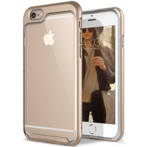 Caseology [Skyfall Series] Case for iPhone 6S Plus / iPhone 6 Plus - Slim Design Clear Transparent Protective Scratch Resistant Air Space Cushion Cover - (Gold)