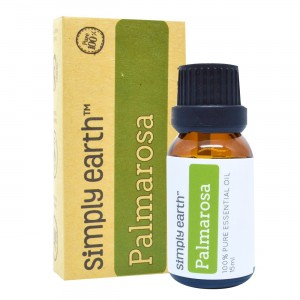 Palmarosa Essential Oil by Simply Earth - 15 ml, 100% Pure Therapeutic Grade