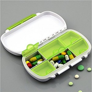 Fecedy Outdoor Waterproof Pill Box Medicine Storage Organizer Container Case