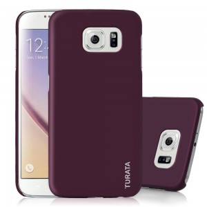 S6 Case, Galaxy S6 Case - TURATA [Slim Fit] Premium Coated Non Slip Surface [Purple] Four Layer Paint Designed Hard Case for Samsung Galaxy S6 G9200 - Purple