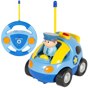 Best Choice Products Kids 2 Channel Beginners Remote Control Cartoon Police Car