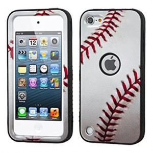 iPod Touch 6th Case, iPod Touch 5th Case, Wydan Heavy Duty High Impact Armor Case Cover Protective Tuff Verge Case for Apple iPod touch 5 6th Generation Baseball