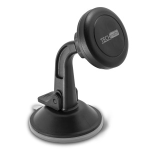 Dashboard Mount TechMatte MagGrip Dashboard and Windshield Magnetic Universal Car Mount Holder for Smartphones including iPhone X, 8, 7, 6, 6S, Galaxy S8, S7, S7 Edge - Black