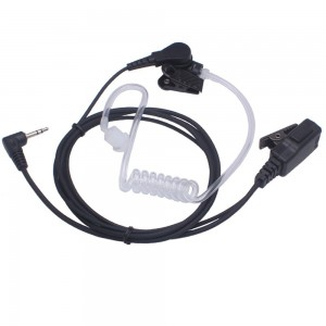 Arama A201M02 Covert Acoustic Tube earpiece headset with PTT and Microphone for 1 PIN 2.5MM Motorola Two-Way Radio T6200C T5800 T7200 T5720