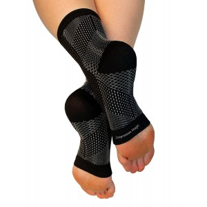 Compression Magic (1 pair) Foot Sleeves - Sock Supports that Relieve Pain and Swelling in Feet and Ankles for Men and Women