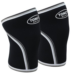 1 Pair Knee Sleeves-Premium Quality 7mm Neoprene Compression Knee Support Sleeve For Squatting Workout bodybuilding Weight Lifting Powerlifting and Crossfit. (For Both Men and Women) Gym and Fitness Gear From Toncy Gear
