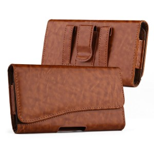 kiwitatá iPhone 8 6s 7 Carrying Case Cover, Horizontal Premium Leather Holster Pouch Belt Clip Case For iphone 6/6s/7 (Brown 4.7 inch)