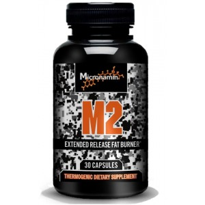 Micronamin M2 Thermogenic Energy Supplement, Best Weight Loss Pills for Men and Women, Top Diet Fat Burner, 30 Count
