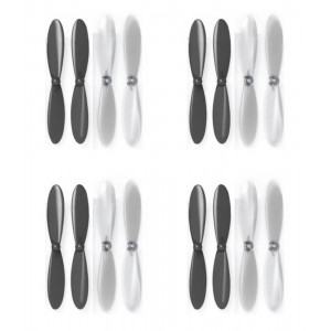 4 x Quantity of X-Drone Nano H107R Black Clear Propeller Blades Props Propellers Transparent - FAST FROM Orlando, Florida USA!