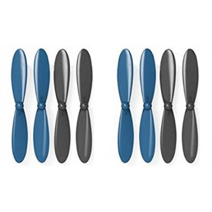 2 x Quantity of X-Drone Nano H107R Propeller Blades Props Propellers Blue and Black - FAST FROM Orlando, Florida USA!
