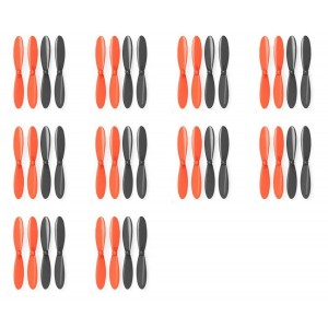 10 x Quantity of Micro Drone Quad Rotor Black Orange Propeller Blades Propellers Props - FAST FROM Orlando, Florida USA!