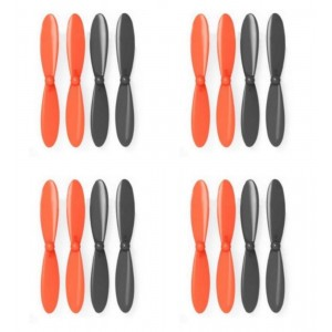 4 x Quantity of Blue Mini Drone Black Orange Propeller Blades Propellers Props - FAST FROM Orlando, Florida USA!