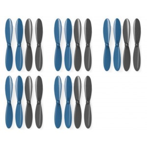 5 x Quantity of X-Drone Nano H107R Propeller Blades Props Propellers Blue and Black - FAST FROM Orlando, Florida USA!