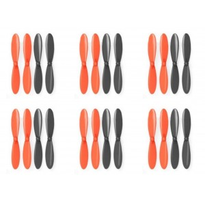 6 x Quantity of Blue Mini Drone Black Orange Propeller Blades Propellers Props - FAST FROM Orlando, Florida USA!