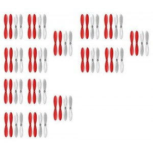 3 x Quantity of X-Drone Nano H107R Red Clear Propeller Blades Props 5x Propellers Transparent - FAST FROM Orlando, Florida USA!
