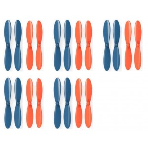 5 x Quantity of Blue Mini Drone Blue Orange Propeller Blades Propellers Props - FAST FROM Orlando, Florida USA!