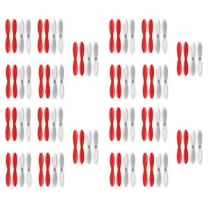 4 x Quantity of Radio Shack Surveyor Drone Red Clear Propeller Blades Props 5x Propellers Transparent - FAST FROM Orlando, Florida USA!