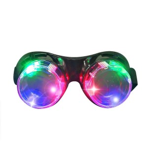 DAXIN DX LED Flashing Windproof Glasses Light up Rave Costume Eyewear Cool Goggles Toys, Colorful LED Lights, Party Favors