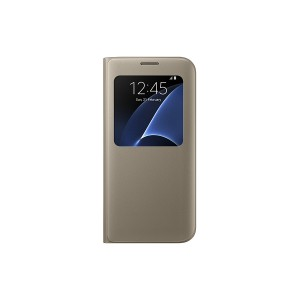 Samsung Galaxy S7 edge Case S-View Flip Cover - Gold