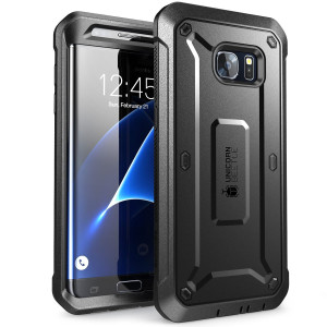 SUPCASE Galaxy S7 Edge Unicorn Beetle PRO Series Full-body Rugged Case with Built-in Screen Protector - Black