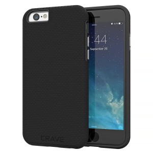 iPhone 6 Case, iPhone 6S Case, Crave Dual Guard Protection Series Case for iPhone 6 6s (4.7 Inch) - Black