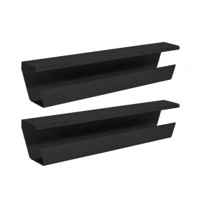 WireTamer Cable Management Tray (2 Pack, Black)