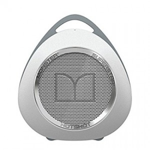 Monster SuperStar HotShot Portable Bluetooth Speaker, White/Chrome
