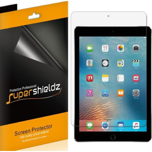 """iPad Pro 9.7 inch / New iPad 9.7 inch (2017) Screen Protector, [4-Pack] Supershieldz Anti-Bubble High Definition Clear Shield For Apple iPad Pro 9.7""""  / iPad 9.7""""  -Lifetime Replacements Warranty"""