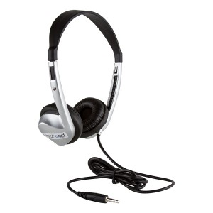 Egghead Stereo School Headphone with Leatherette Ear Cushion, Black, EGG-IAG-1008-SO