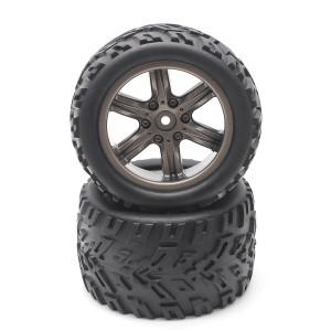 HOSIM RC Car Wheel Rubber Tires Tyres 16-ZJ01 for 1:12 Scale Hosim Off-Road RC Car 9122 9123 Pack of 2
