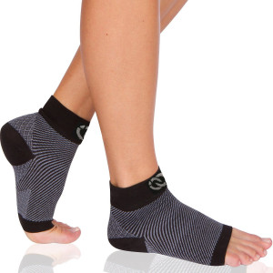 Plantar Fasciitis Socks (1 Pair) - Compression Foot Sleeves with Arch and Heel Support Treatment for Men and Women - Best to Brace Insoles for Relief
