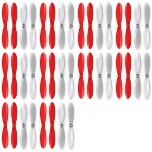 10 x Quantity of Extreme Fliers Micro Drone 2.0 Red Clear Propeller Blades Props Propellers Transparent - FAST FROM Orlando, Florida USA!
