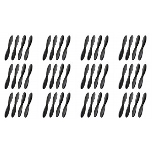 12 x Quantity of Extreme Fliers Micro Drone 2.0 H107D+-02 Plus Propeller Blade Set All Black Props Propellers Blades Quadcopter Parts - FAST FROM Orlando, Florida USA!