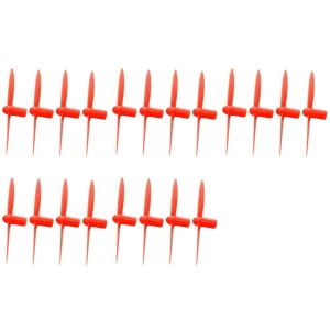 5 x Quantity of WLtoys V282 All Red Nano Quadcopter Propeller blade Set 32mm Propellers Blades Props Quad Drone parts - FAST FROM Orlando, Florida USA!