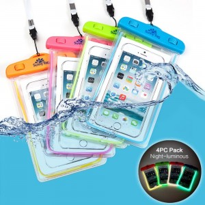 Sunny Tag Waterproof Case Phone Pouch, Universal Dry Bag for iPhone 4/5/6 Plus, Google Pixel/LG/HTC Samsung Galaxy S8/S8 Plus/Note 6 5 4, Sony MOTO, Blue Green Orange Pink
