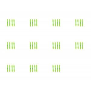 11 x Quantity of Estes Proto-X All Green Nano Quadcopter Propeller blade Set 32mm Propellers Blades Props Quad Drone parts - FAST FREE SHIPPING FROM Orlando, Florida USA!