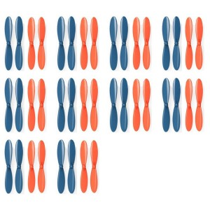 10 x Quantity of Micro Drone Quad Rotor Blue Orange Propeller Blades Propellers Props - FAST FROM Orlando, Florida USA!