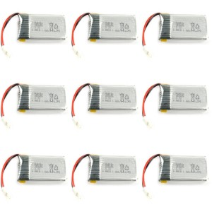 9 x Quantity of Radio Shack Surveyor Drone Battery 3.7v 375mAh 25c Li-Po RC Part - FAST FROM Orlando, Florida USA!