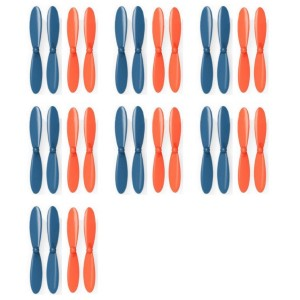 7 x Quantity of Blue Mini Drone Blue Orange Propeller Blades Propellers Props - FAST FROM Orlando, Florida USA!