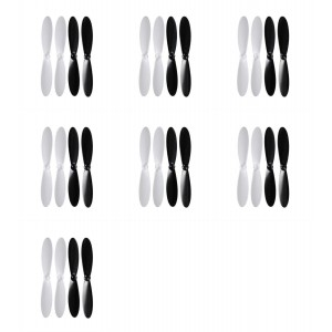 7 x Quantity of Blue Mini Drone 55mm Propeller Blades Props Rotor Set Main Blades Black and White - FAST FROM Orlando, Florida USA!