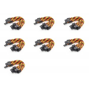 7 x Quantity of Walkera Runner 250 (R) Advanced GPS Quadcopter Drone Twisted 10 x 10CM Male to Male Servo Lead (JR) 22AWG Receiver Wire (Servo Connecto - FAST FROM Orlando, Florida USA!