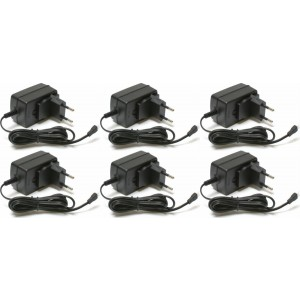 6 x Quantity of Micro Drone Quad Rotor 3.7V Battery Wall Charger any mAh Auto Shut Off with LED 220V UK Version Plug HM-CB100-Z-21 (220V) - FAST FROM Orlando, Florida USA!